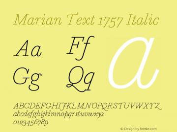 Marian Text 1757