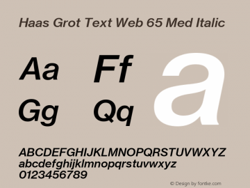 Haas Grot Text Web 65 Med