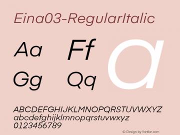 Eina03-RegularItalic
