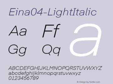 Eina04-LightItalic