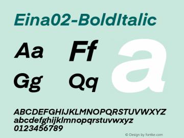 Eina02-BoldItalic
