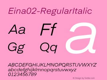 Eina02-RegularItalic