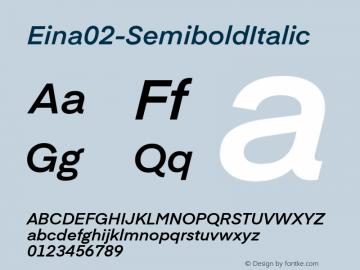 Eina02-SemiboldItalic