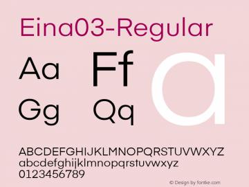 Eina03-Regular