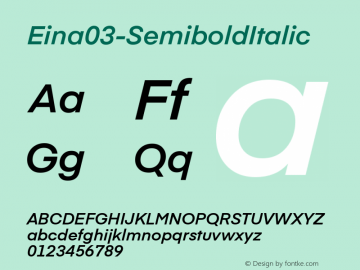 Eina03-SemiboldItalic