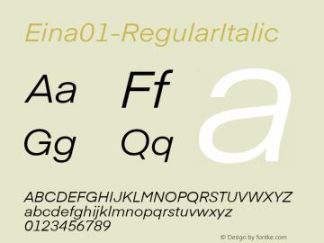 Eina01-RegularItalic