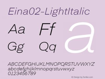 Eina02-LightItalic