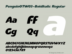 PenguinOT-BoldItalic