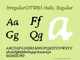 IrregularOT-Italic