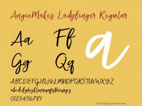 AngieMakes Ladyfinger