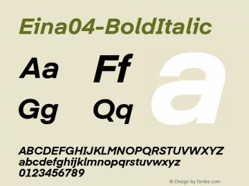 Eina04-BoldItalic