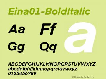 Eina01-BoldItalic