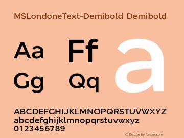 MSLondoneText-Demibold