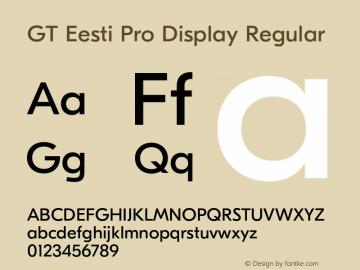 GT Eesti Pro Display
