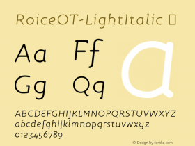 RoiceOT-LightItalic