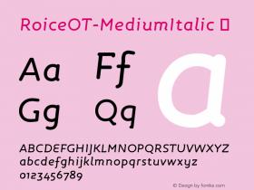 RoiceOT-MediumItalic