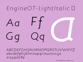 EngineOT-LightItalic