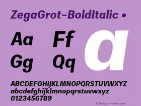 ZegaGrot-BoldItalic
