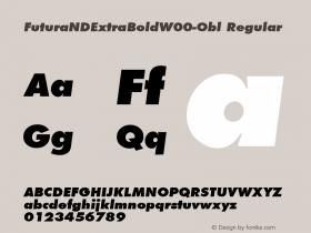 FuturaNDExtraBold-Obl