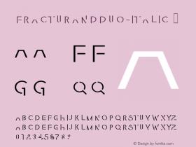 FracturaNDDuo-Italic