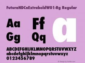 FuturaNDCnExtrabold-Rg