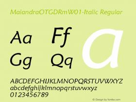 MaiandraOTGDRm-Italic