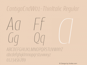 CantigaCnd-ThinItalic