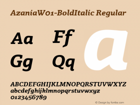 Azania-BoldItalic