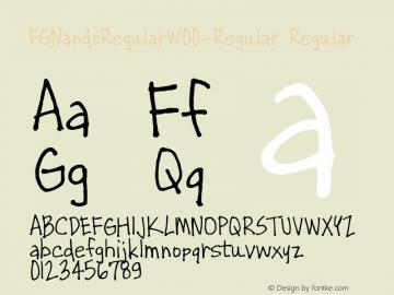 FGNandoRegular-Regular
