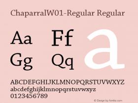 Chaparral-Regular