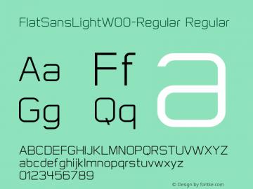 FlatSansLight-Regular