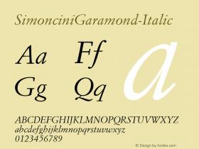 SimonciniGaramond-Italic