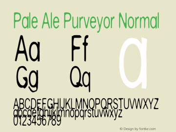 Pale Ale Purveyor