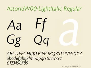 Astoria-LightItalic