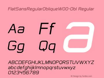 FlatSansRegularOblique-Obl