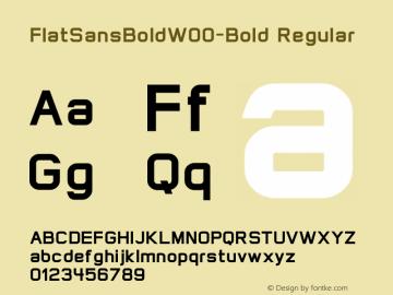 FlatSansBold-Bold