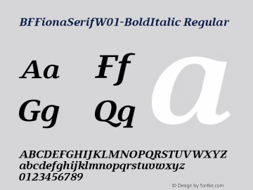 BFFionaSerif-BoldItalic