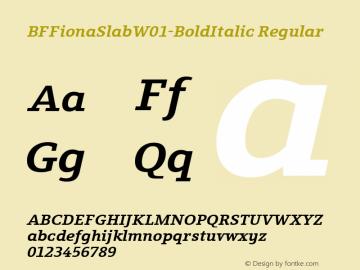 BFFionaSlab-BoldItalic
