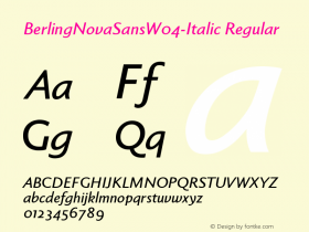 BerlingNovaSans-Italic