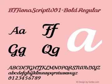 BFFionaScript-Bold