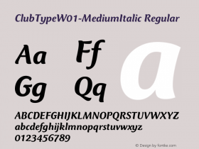 ClubType-MediumItalic