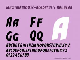 MaximeSC-BoldItalic