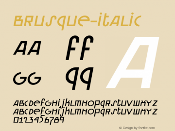 Brusque-Italic