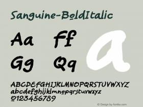 Sanguine-BoldItalic