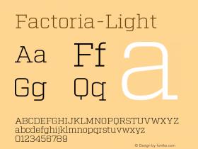 Factoria-Light
