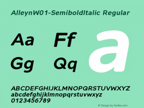 Alleyn-SemiboldItalic