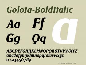 Golota-BoldItalic