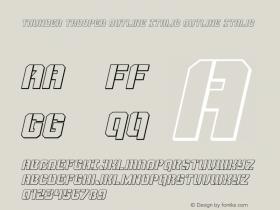 Thunder Trooper Outline Italic
