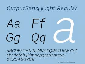 OutputSans-Light