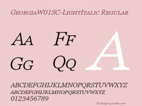 GeorgiaSC-LightItalic